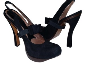 Marni Heels Black Suede Pumps