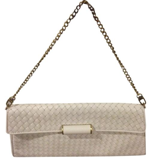 Preload https://item4.tradesy.com/images/bcbgmaxazria-white-with-gold-hardware-leather-clutch-5467873-0-0.jpg?width=440&height=440