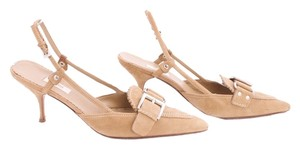 Prada Kitten Suede TAN Sandals