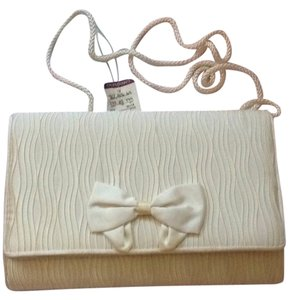 Carla Marchi Formal Cream Ivory Clutch