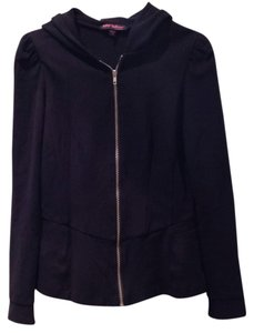 Betsey Johnson Bows Detail Zip Up Knit Stretchy Fall Fancy Steampunk Sweatshirt