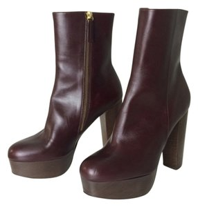 Stella McCartney Faux Leather Boot Gold Plum Boots