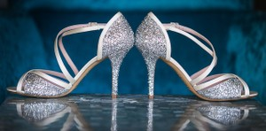 Kate Spade Glitter Satin Wedding Wedding Shoes