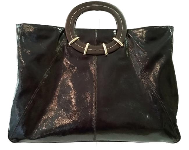 Item - New York Large Mally Brown Patent Leather Tote