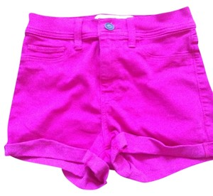 Hollister Jegging Comfortable Summer Mini/Short Shorts Pink