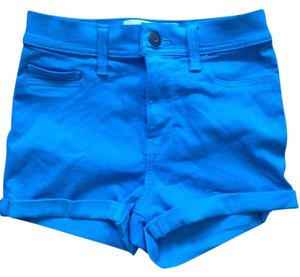 Hollister Jegging Stretchy Foldover Mini/Short Shorts Blue