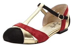 Seychelles Black/Gold Multi Flats