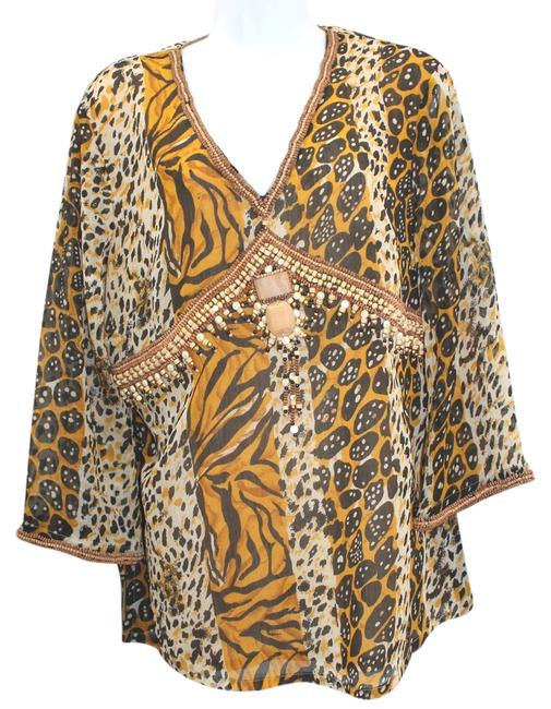 Other Animal Print Embellished Top