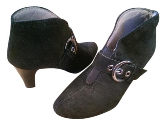 LifeStride Leather Suede Look Buckle Black Boots