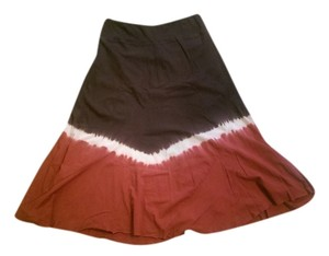 Ojai Boutique Ombre Skirt Rust, Brown, Multi