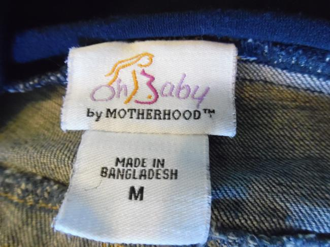 Motherhood Maternity OH BABY by MOTHERHOOD Blue Faded Stretch Bootcut Paneled Jeans