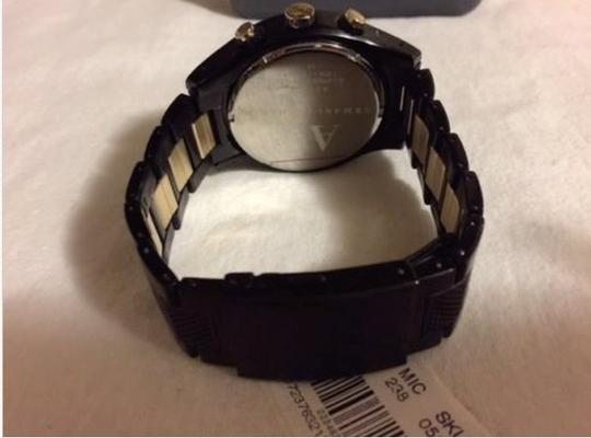 A|X Armani Exchange ARMANI EXCHANGE Mens Chronograph Black & Gold Ion-Plated Watch AX1604