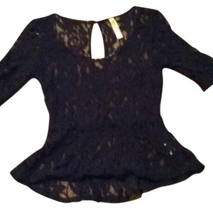 Eyeshadow Lace Top Dark Blue