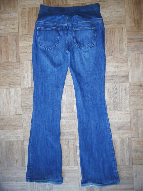 Old Navy Blue Faded Stretchy Paneled Jeans