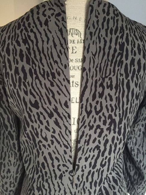 Gap short dress Grey/Black Shift Animal Print on Tradesy