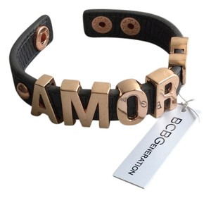 BCBGeneration Spanish AMOR Love Letters With Heart in Copper Color * Brown Adjustable Band