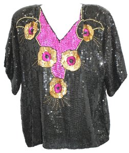 JLB Embellished Evening Silk Top
