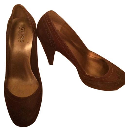 Guess By Marciano Two Tone Brown Pumps