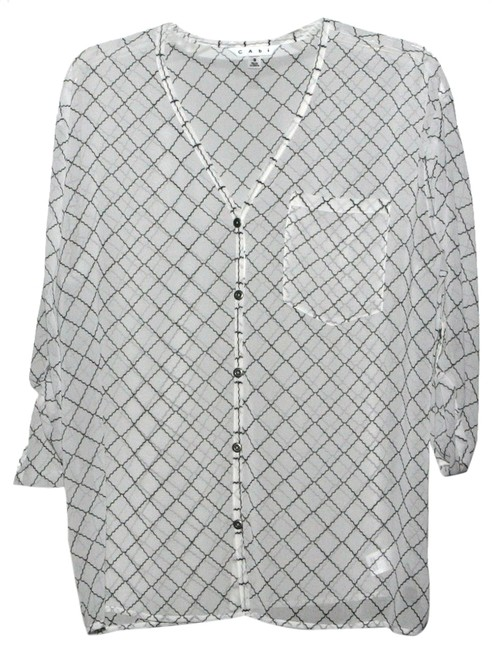 Preload https://item5.tradesy.com/images/cabi-blackwhite-chessboard-from-the-spring-2014-collection-blouse-size-6-s-5470159-0-0.jpg?width=400&height=650