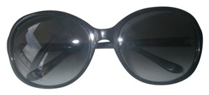 Kate Spade Kate Spade Caitlin Sunglasses 807 Oversize Round Fashion Frame Gray Gradient Lens