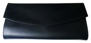 New! Jewelry Roll/Clutch in Black Faux Leather and Suede
