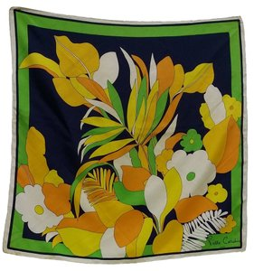 Pierre Cardin Pure heavy silk twill printed scarf by the original House of Pierre Cardin circa 1960.
