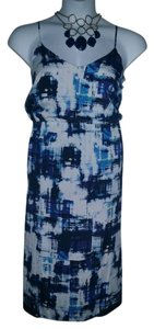 Vince Camuto short dress BLUE/WHITE on Tradesy