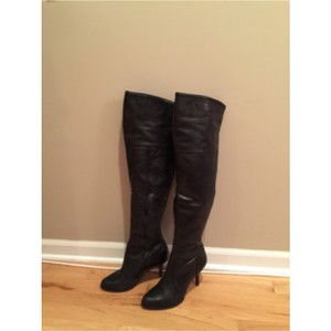 Juicy Couture Otk Over The Knee Stilettos Coutour Black Boots