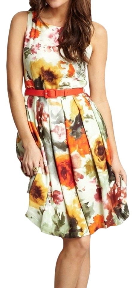 ddfa5a12bb Eva Franco Multicolor En Plein Air Knee Length Cocktail Dress Size 8 ...