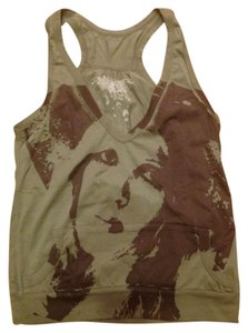 Drifter Graffiti Print Kangaroo Pocket Top Olive Green