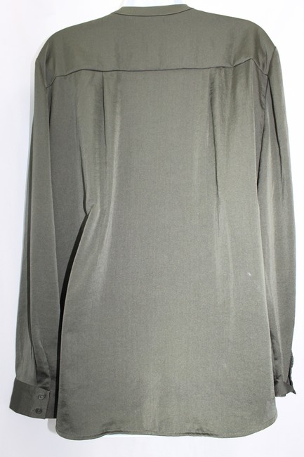 Chico's Green Satin Top