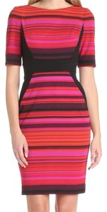 Maggy London Striped Magneta Dress