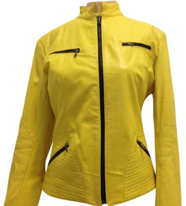 Other Yellow Leather Jacket