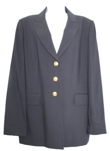 VIYELLA Navy Blue Wool Jacket Blazer