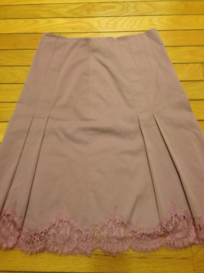 f35300d2 high-quality Rebecca Taylor Pleated Lace Trim Skirt - hydroclean.no