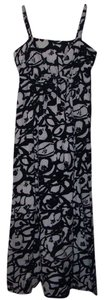 Black/White Maxi Dress by DKNY Cotton Midi Floral Long Like New