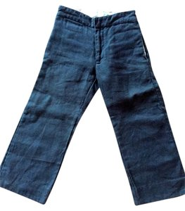 Flora and Henri Straight Pants slate blue