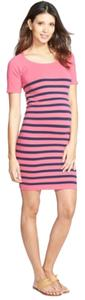 Nordstrom Nautical Short Sleeve Maternity Dress