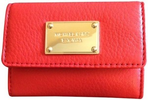 Michael Kors Michael Kors Leather Flap Coin Purse in Mandarin