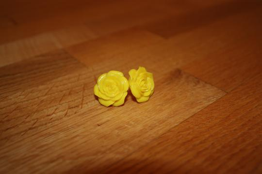 Francesca's Lucite Flower Post Earrings