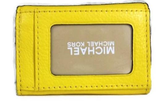 Michael Kors Michael Kors Leather Flap Coin Purse in Citrus Yellow