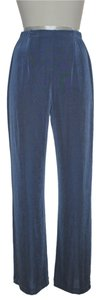Chico's Elastic Waist Pull-on Straight Pants Dusty Blue