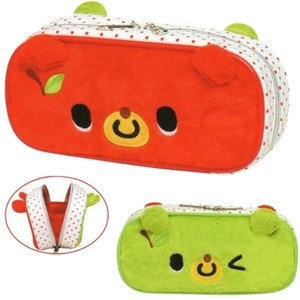 Kamio Kamio Apple Bear Plushy Pen & Makeup Pouch