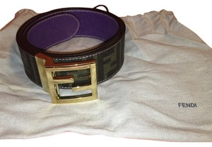 Fendi Tobacco Reversible Belt