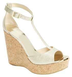 Jimmy Choo Wedge Champagne Wedges