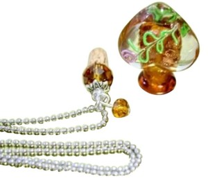 Other Amber Perfume Bottle Pendant Long Silver Ball Chain Free Shipping
