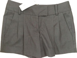 French Connection Classy Sexy Striped Dress Shorts Grey