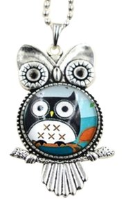 Glass Owl Sweater Necklace Free Shipping