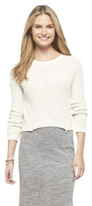 Xhilaration Zipper Pullover Cream Sweater