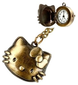 Bronze Hello Kitty Pocket Watch Free Shipping